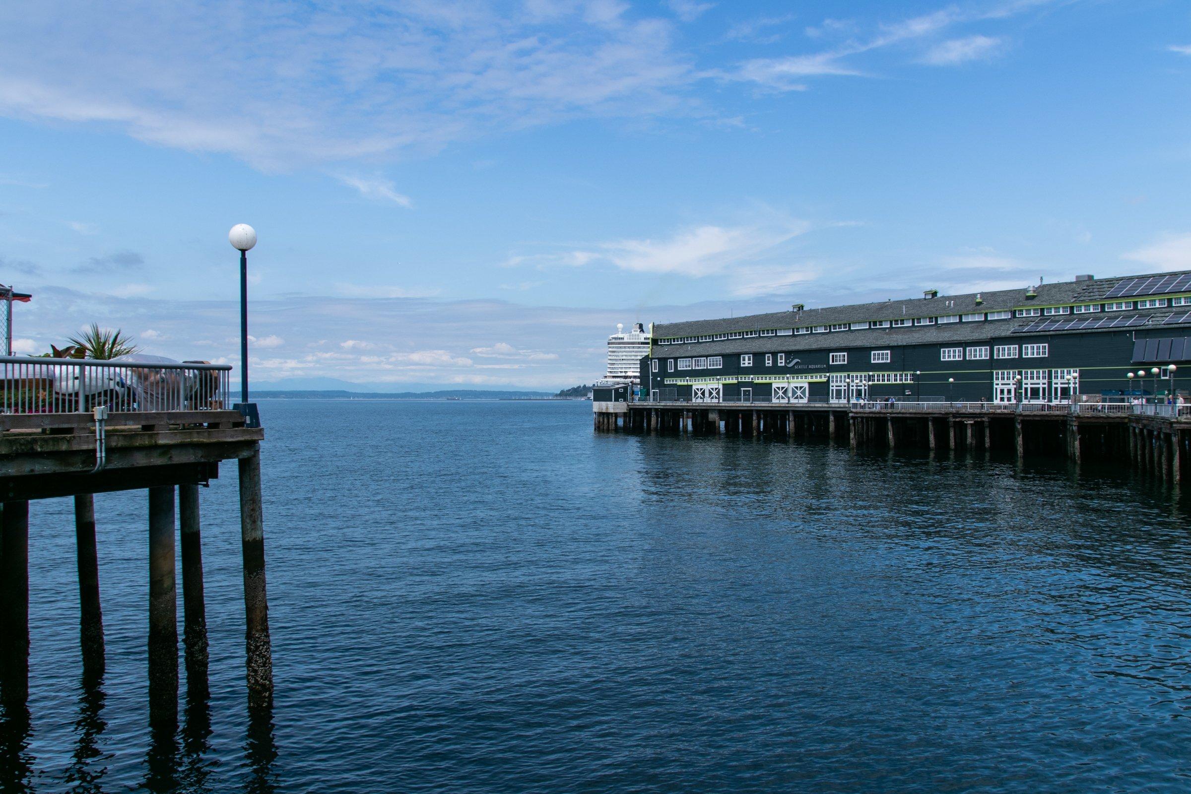 Buildings On Piers In Water