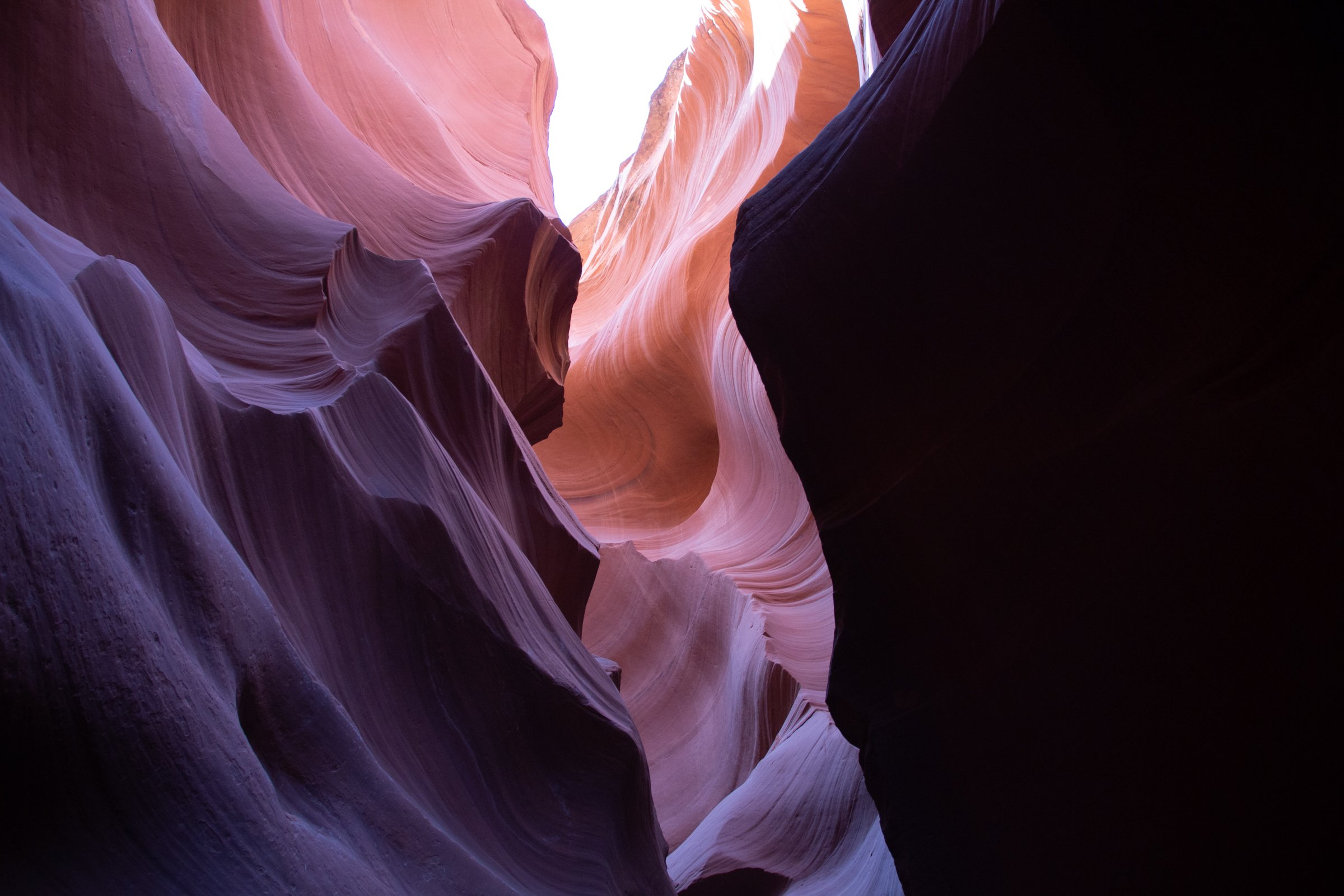 Light Illuminating Lower Antelope Canyon Textured Walls