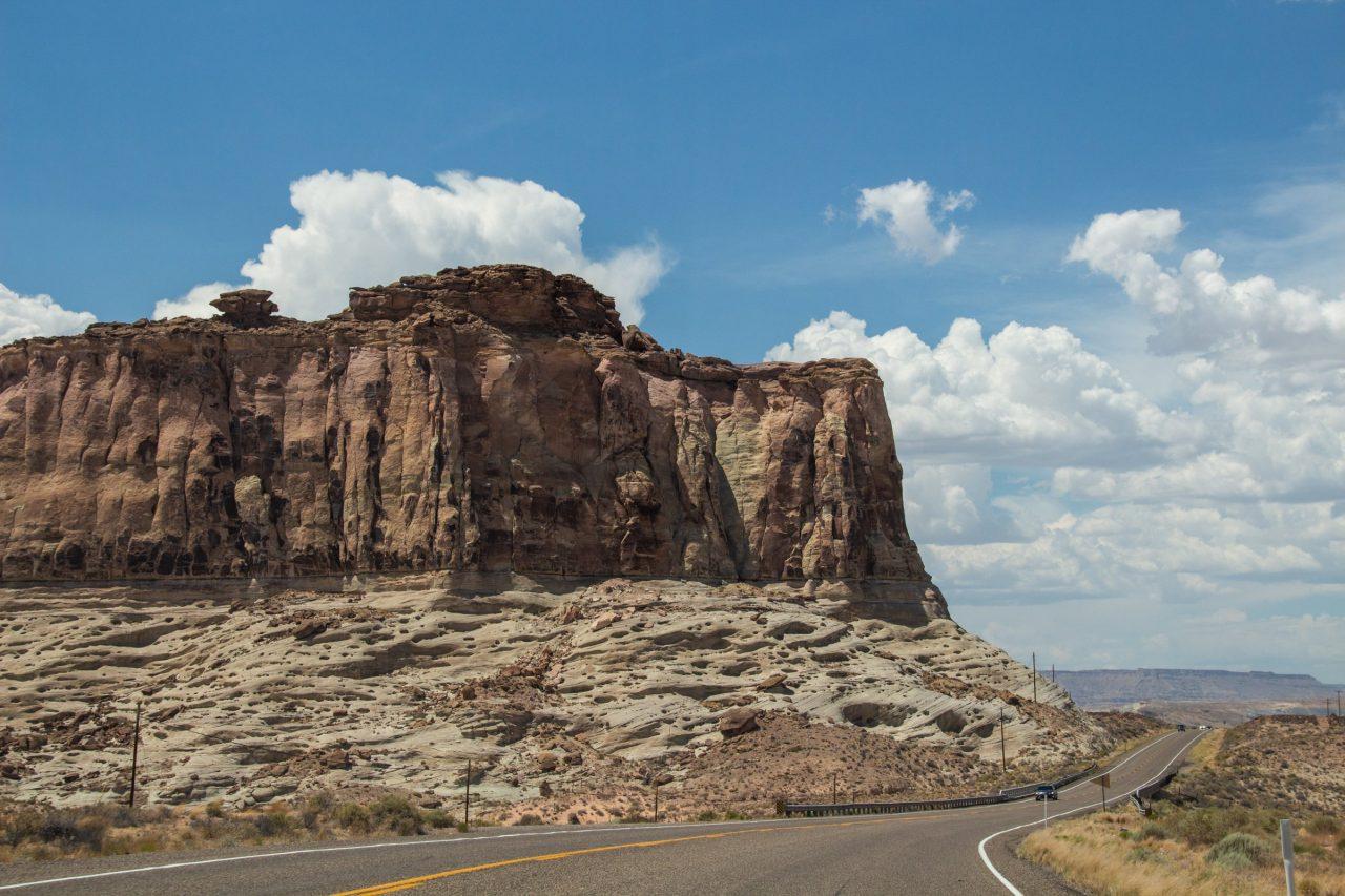 Rock Mountain Near Desert Highway