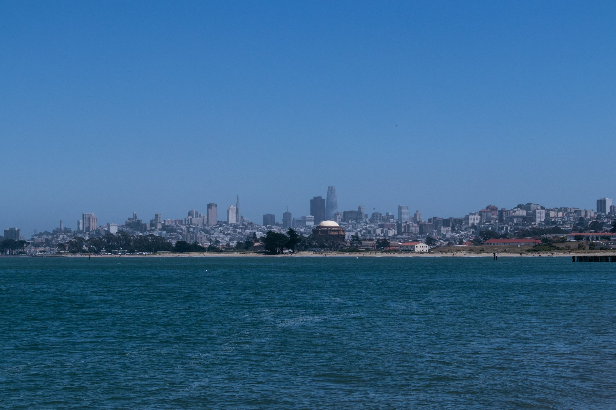 San Francisco City Skyline Beyond Water