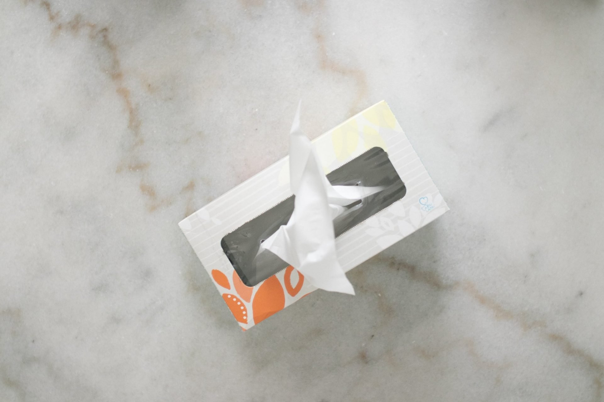 Tissue Paper Box On Marble Surface