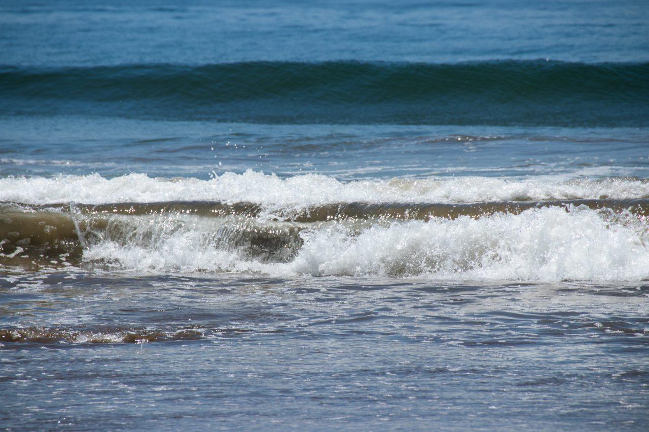 Small Waves Crashing On Shore