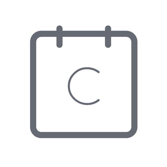 Calendly Square White Icon