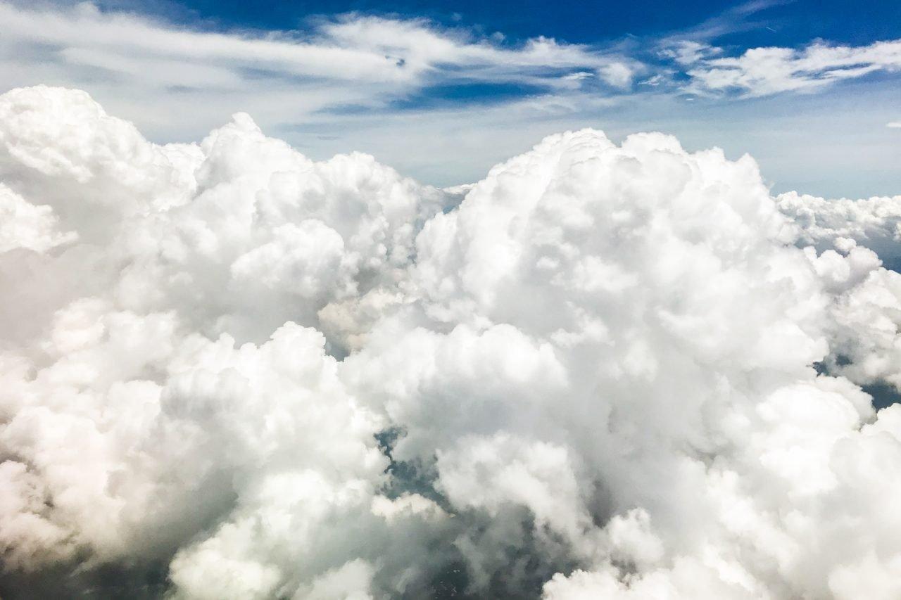 Big White Fluffy Clouds In Sky