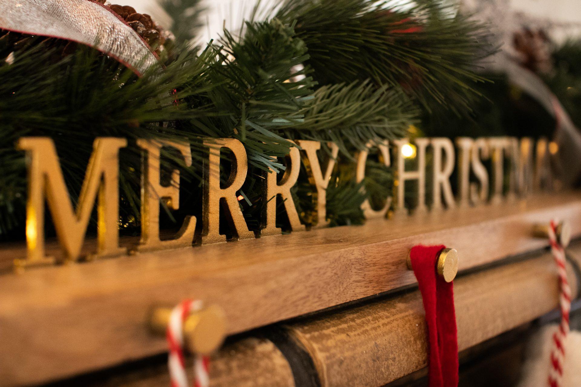 Decorations On Christmas Stocking Holder