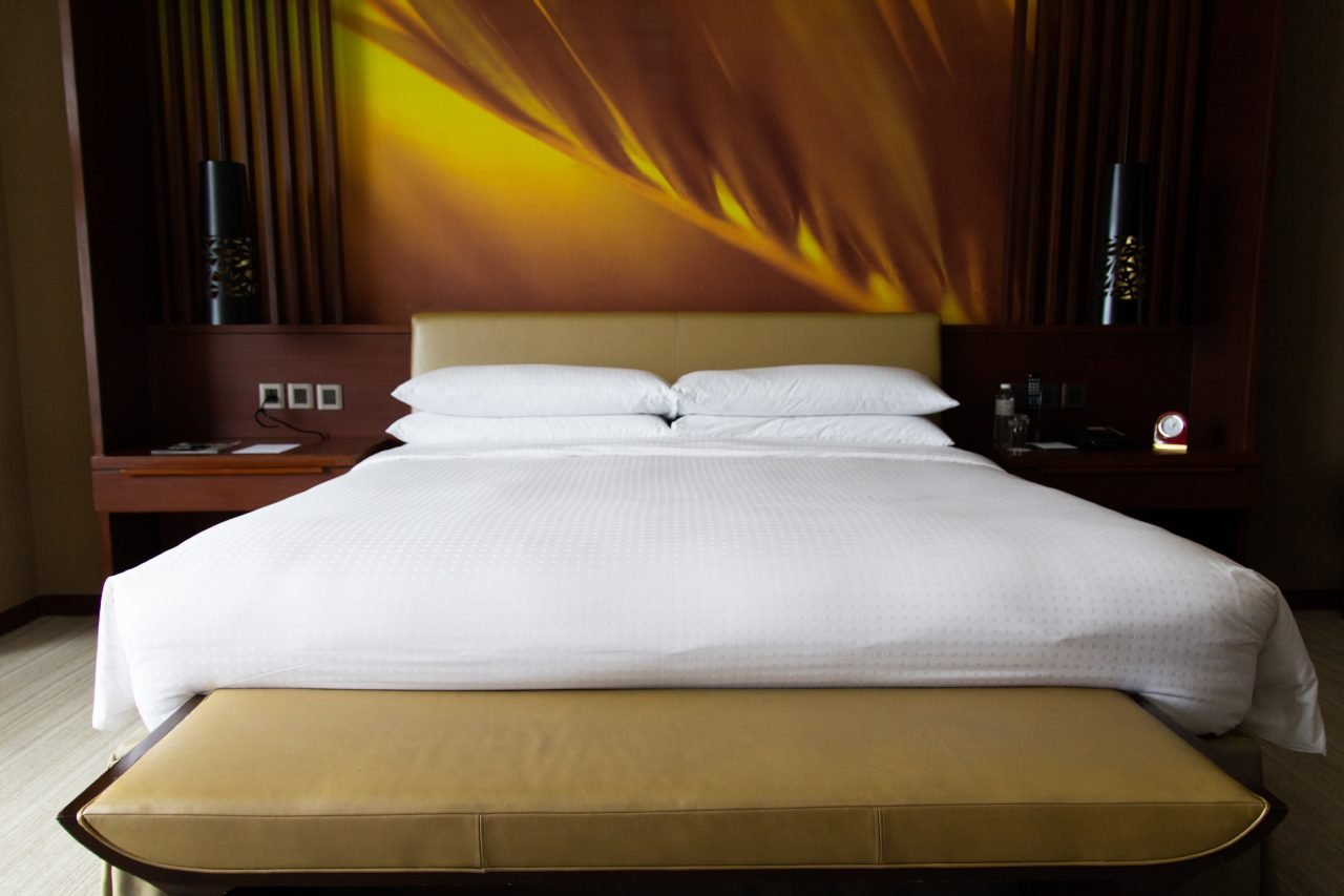 Double Size Bed In Hotel Room