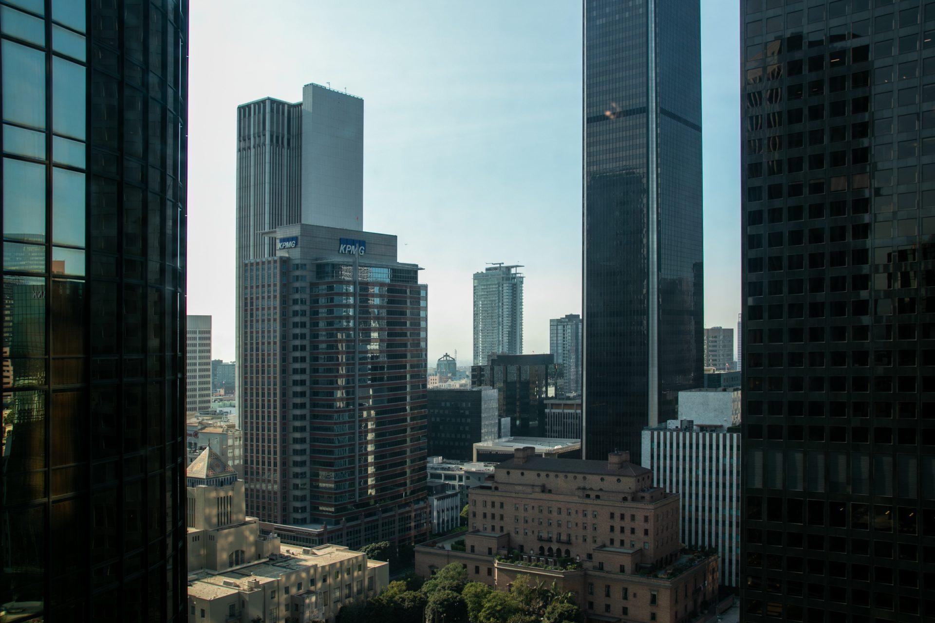 Tall City Buildings Against Sky