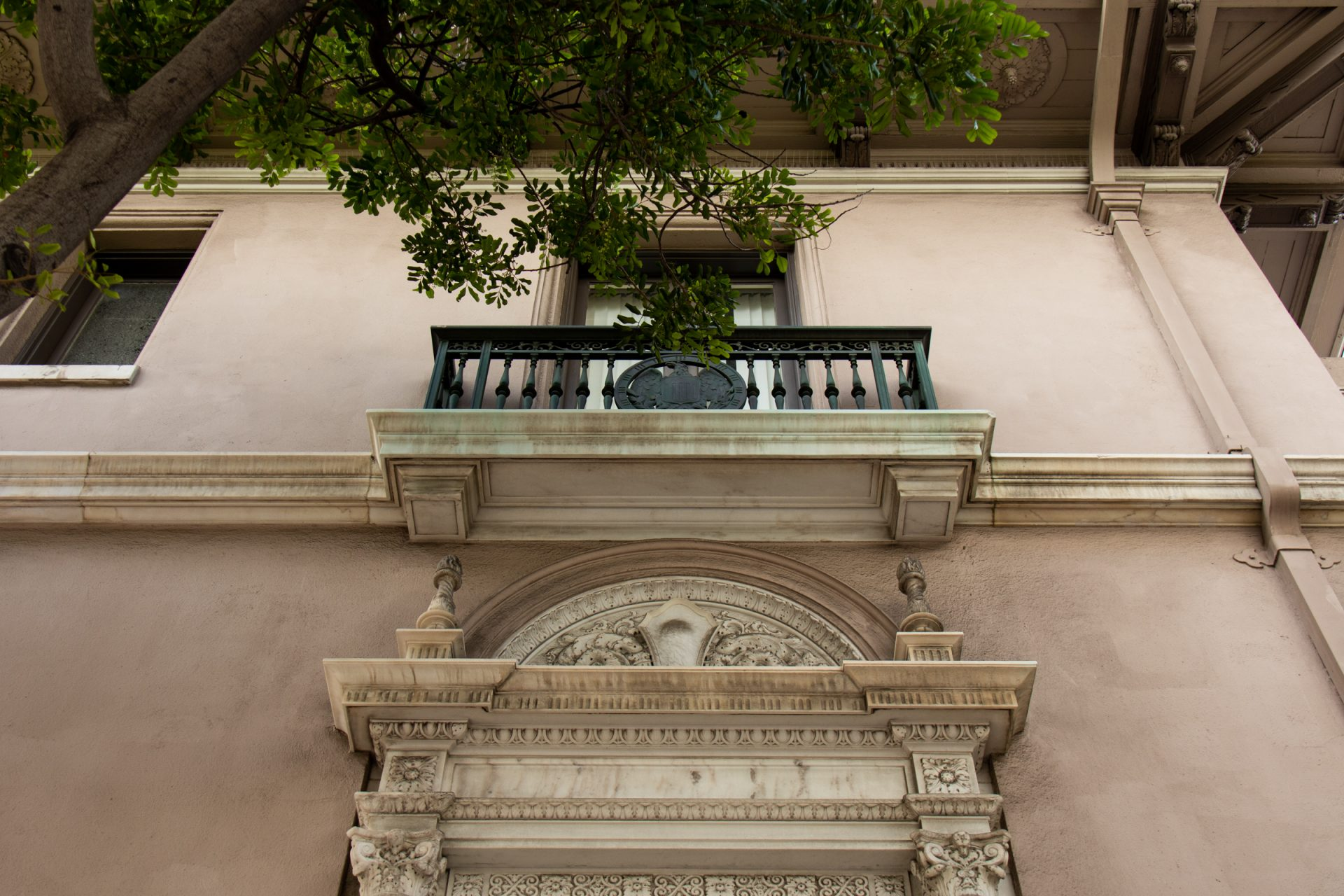 Balcony Of Building With Ornate Details