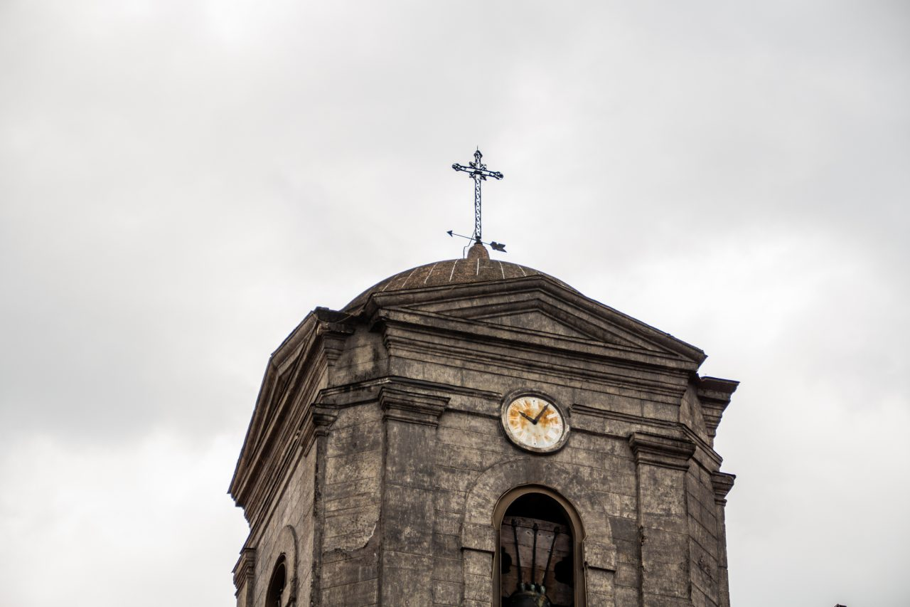 Church Bell Tower In Manila