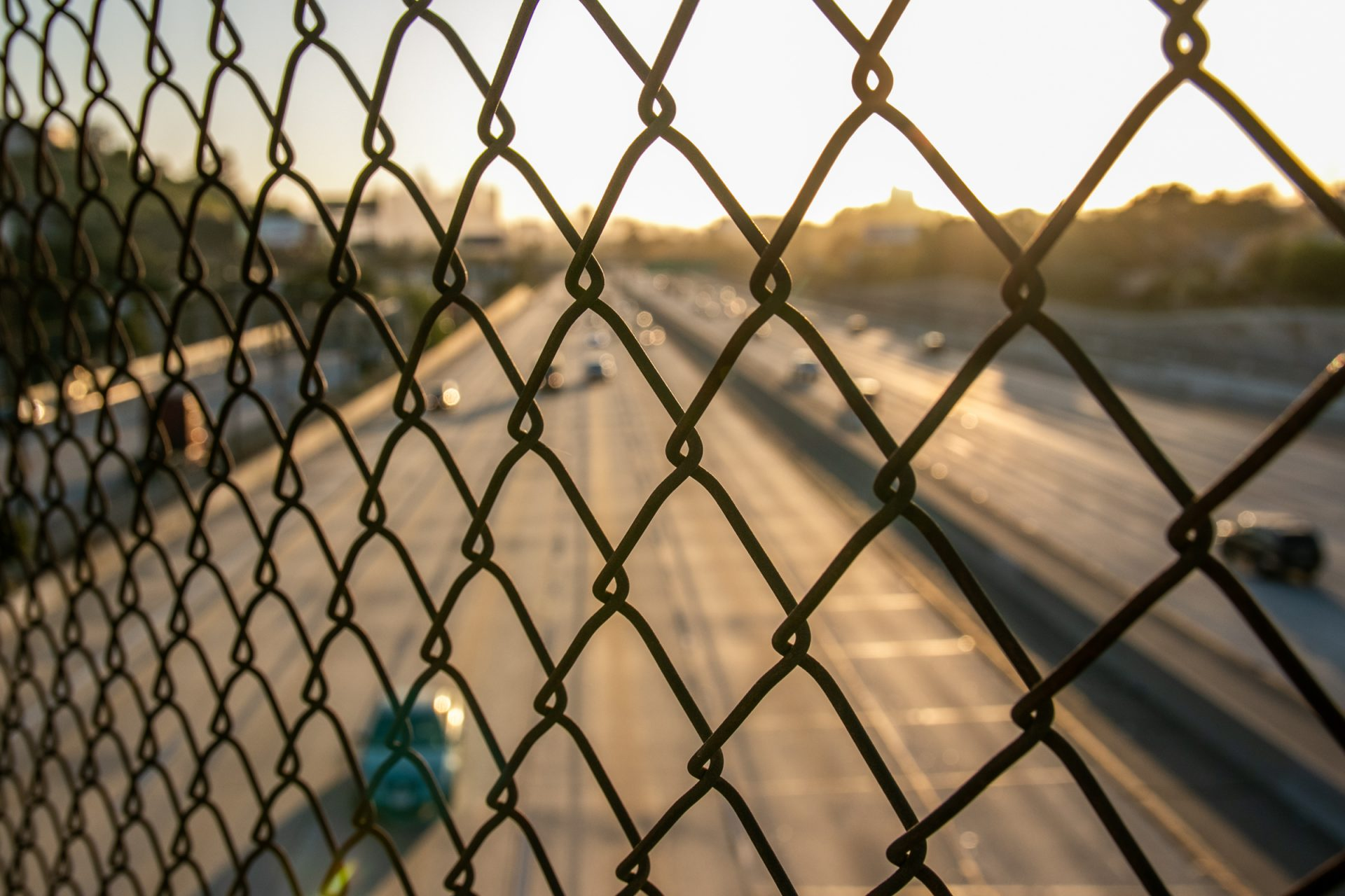 Highway Through Wire Mesh