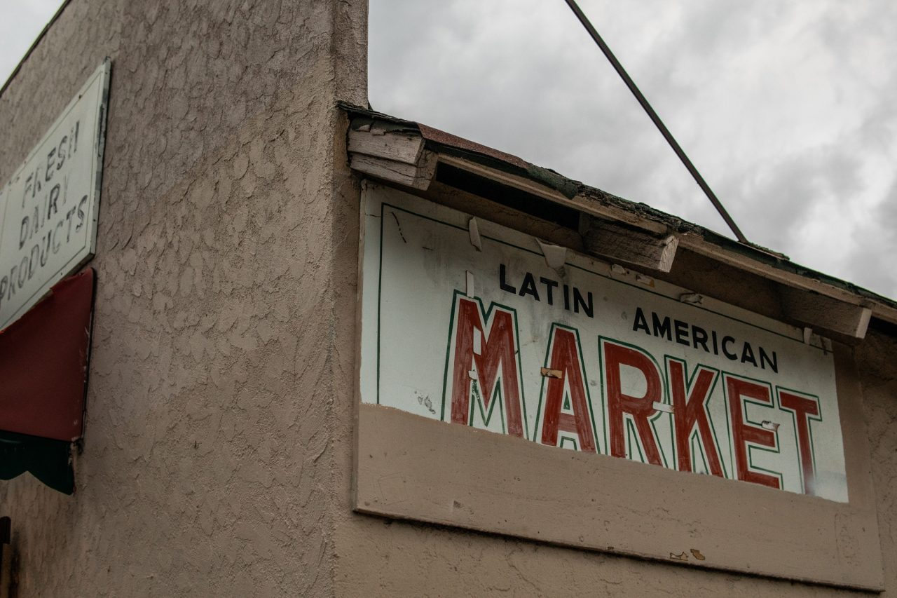 Old Market Signs On Building