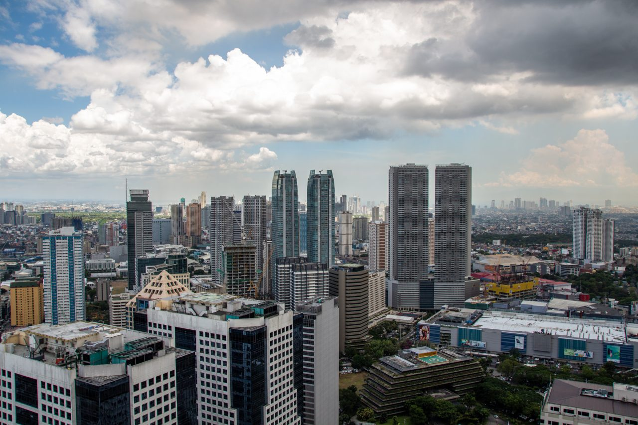 Skyscrapers And Tall Buildings In Metropolitan Area