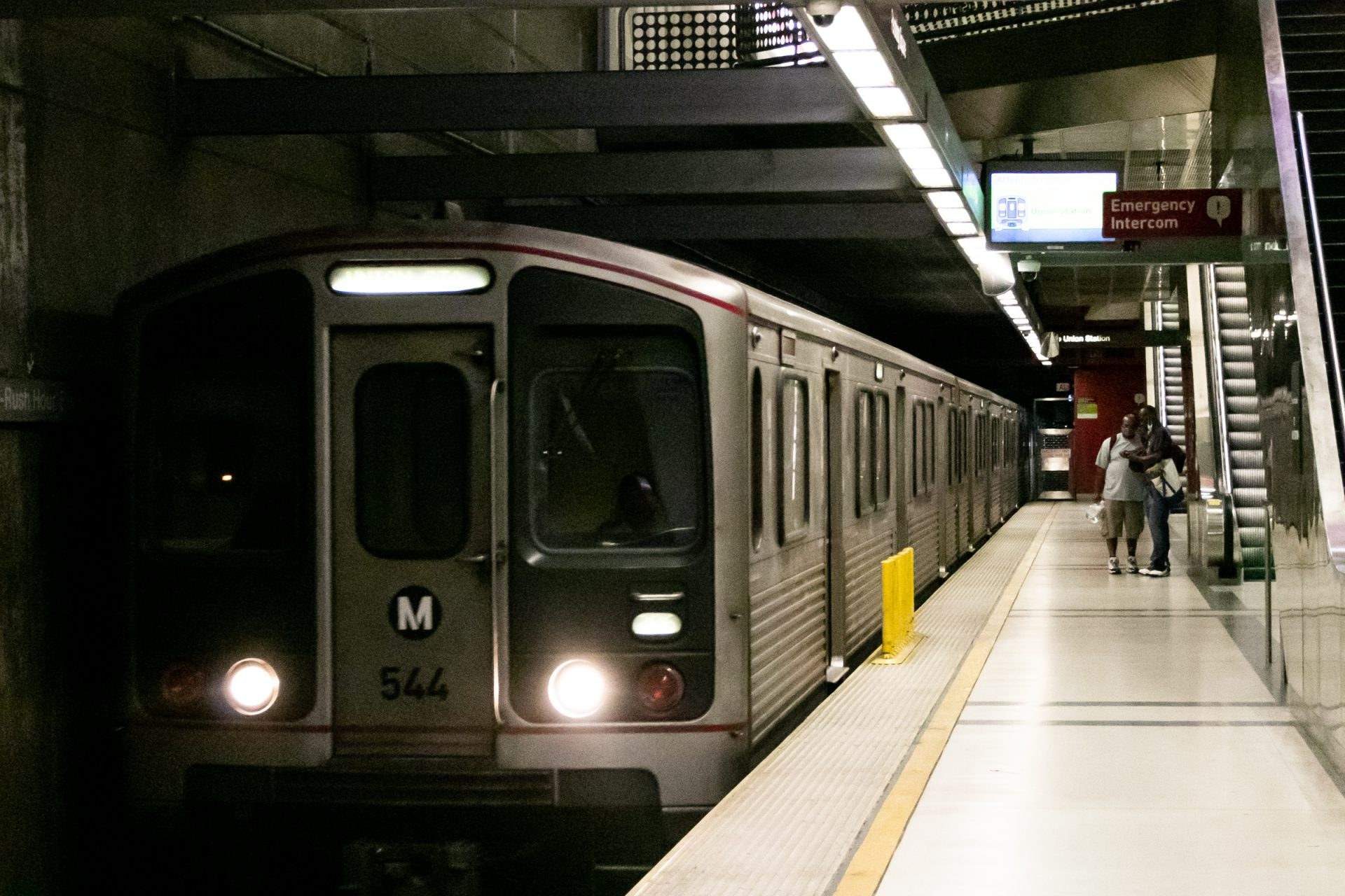 Subway Train In Station