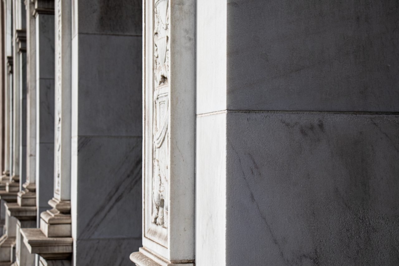 Building With Marble Square Columns