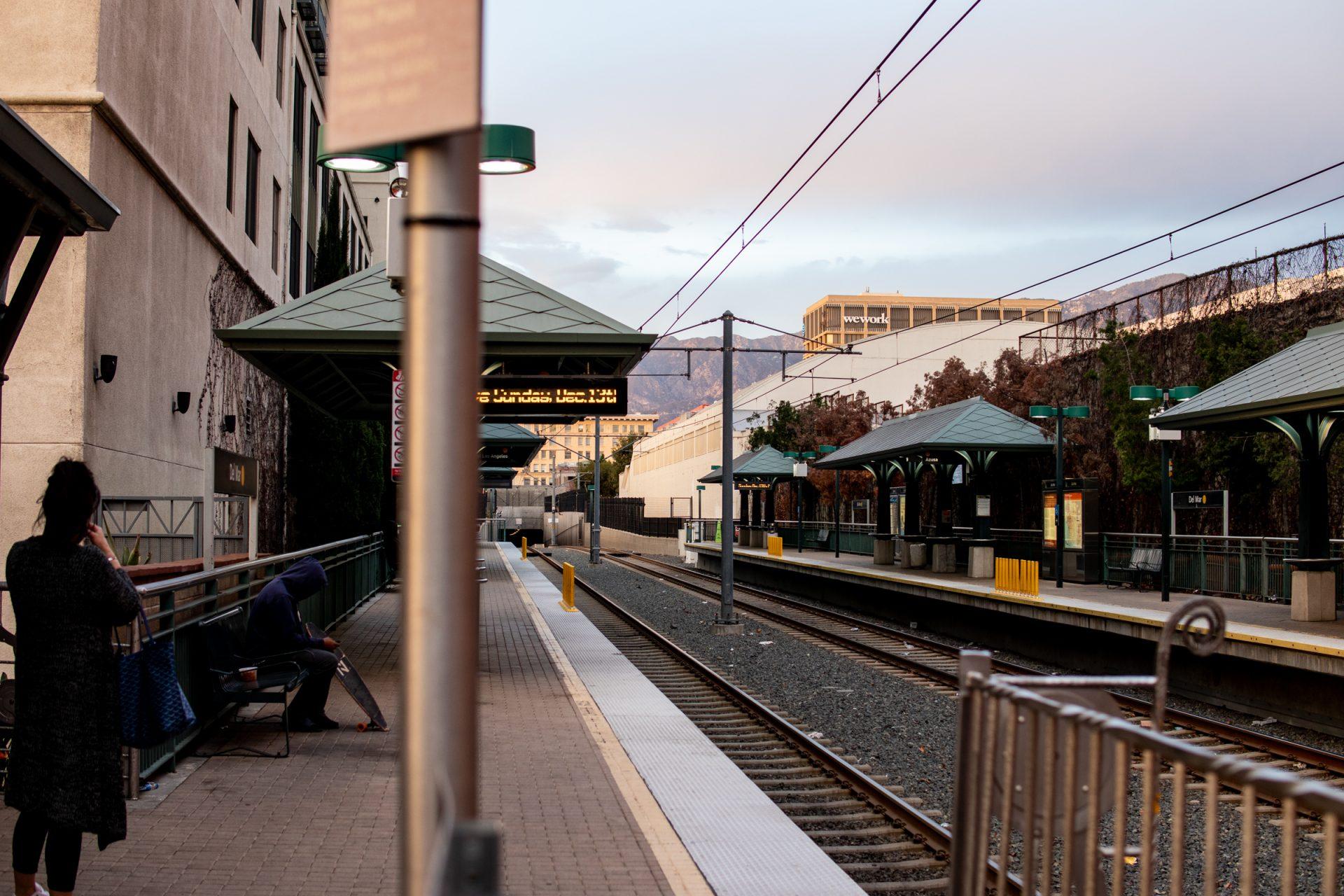 Empty Platforms In Train Station