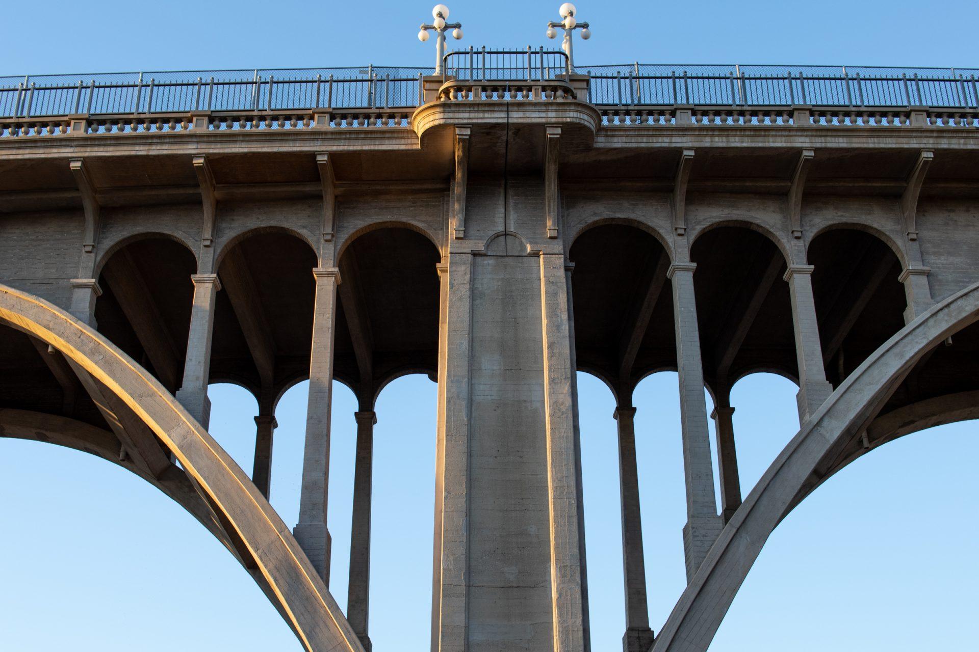 Pier Of Concrete Arch Bridge