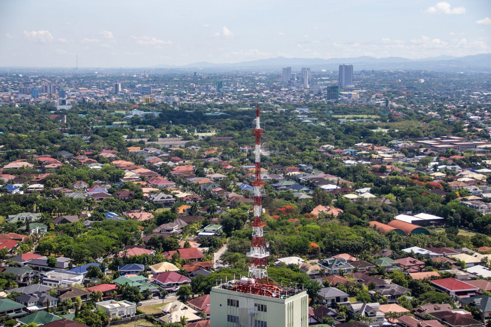 Radio Tower In Urban Area In Manila