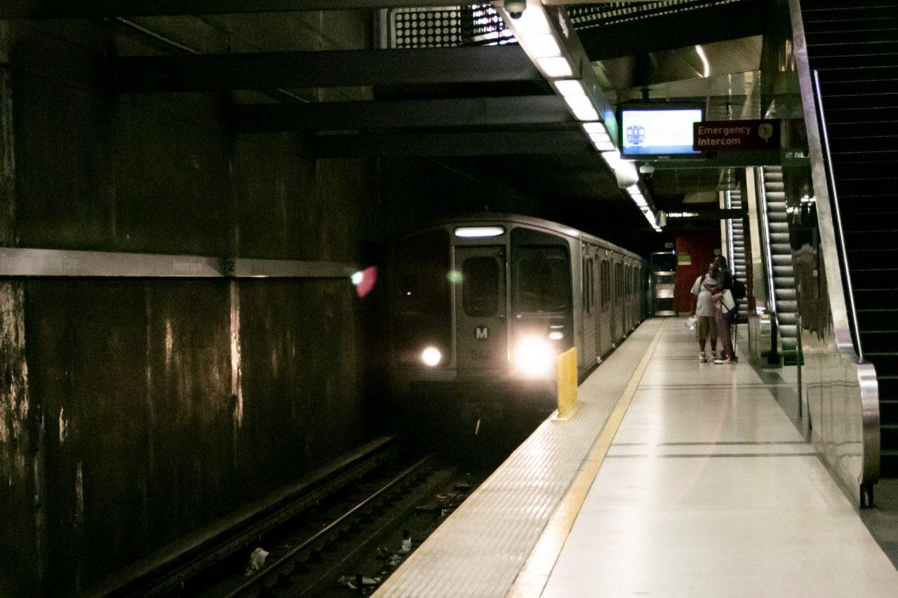 Subway Train Near Platform