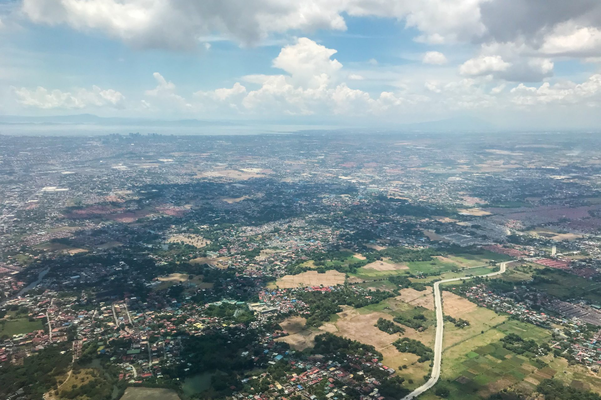 Bird's Eye View Of Scattered Urban Areas
