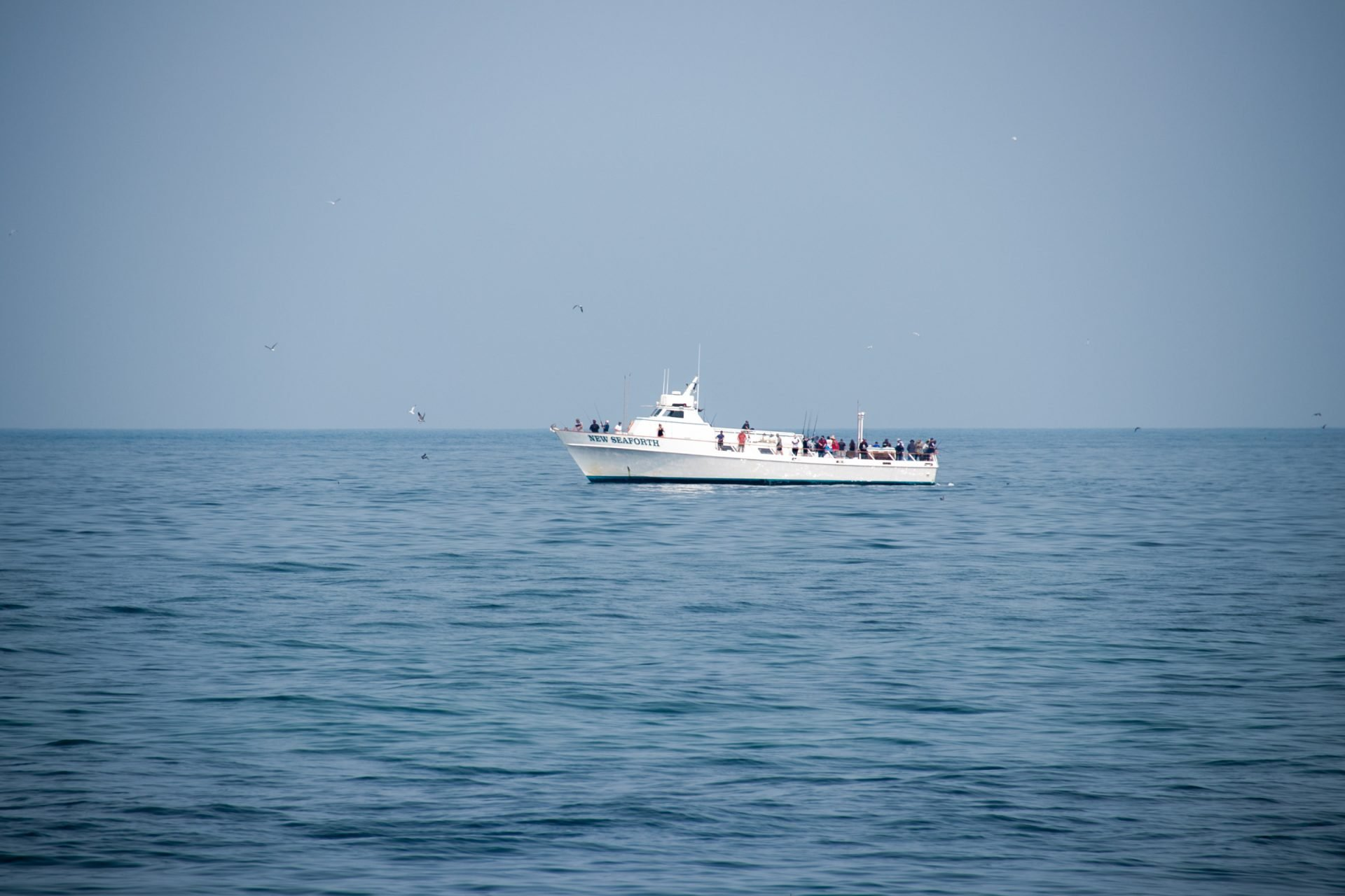 Multiple People In Yacht On Water