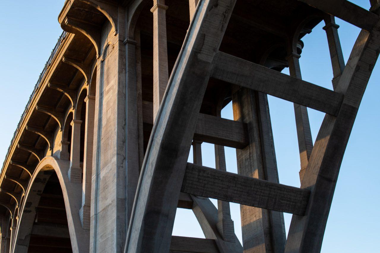 Close Up Of Viaduct Bridge Abutment
