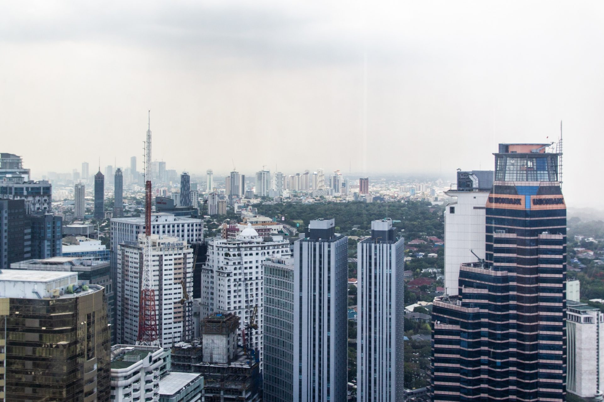 High View Of Tall Buildings In City