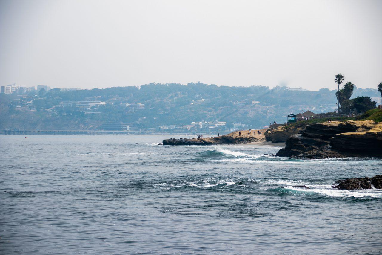 Small Waves Near Rocky Coast