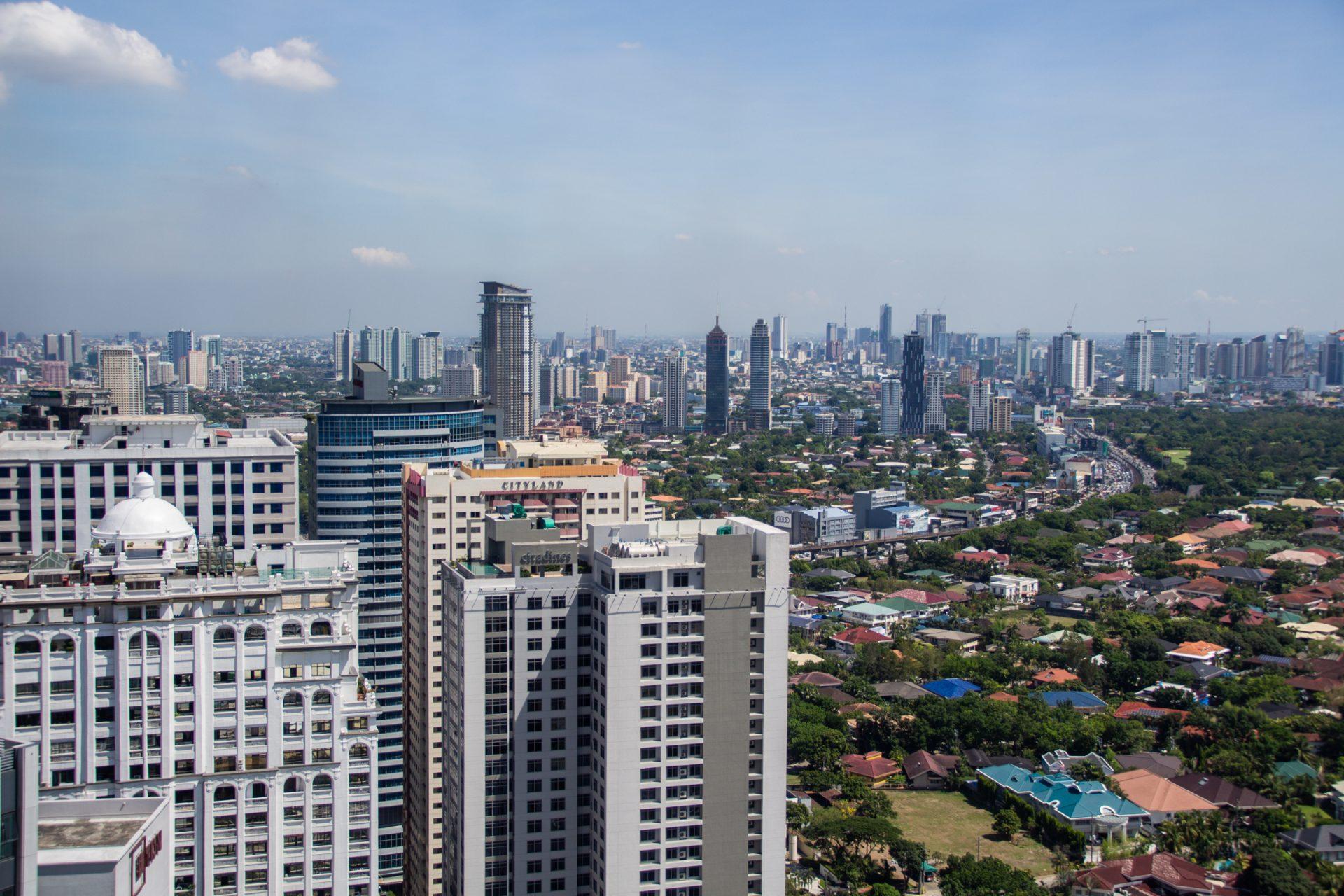 Manila Skyline Beyond High Rise Buildings