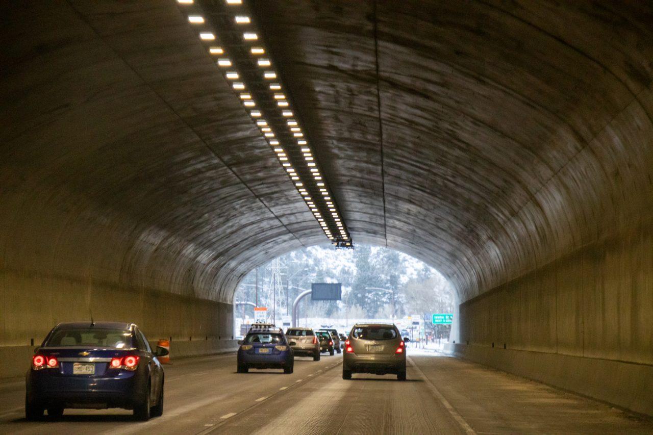 Light Traffic In Tunnel