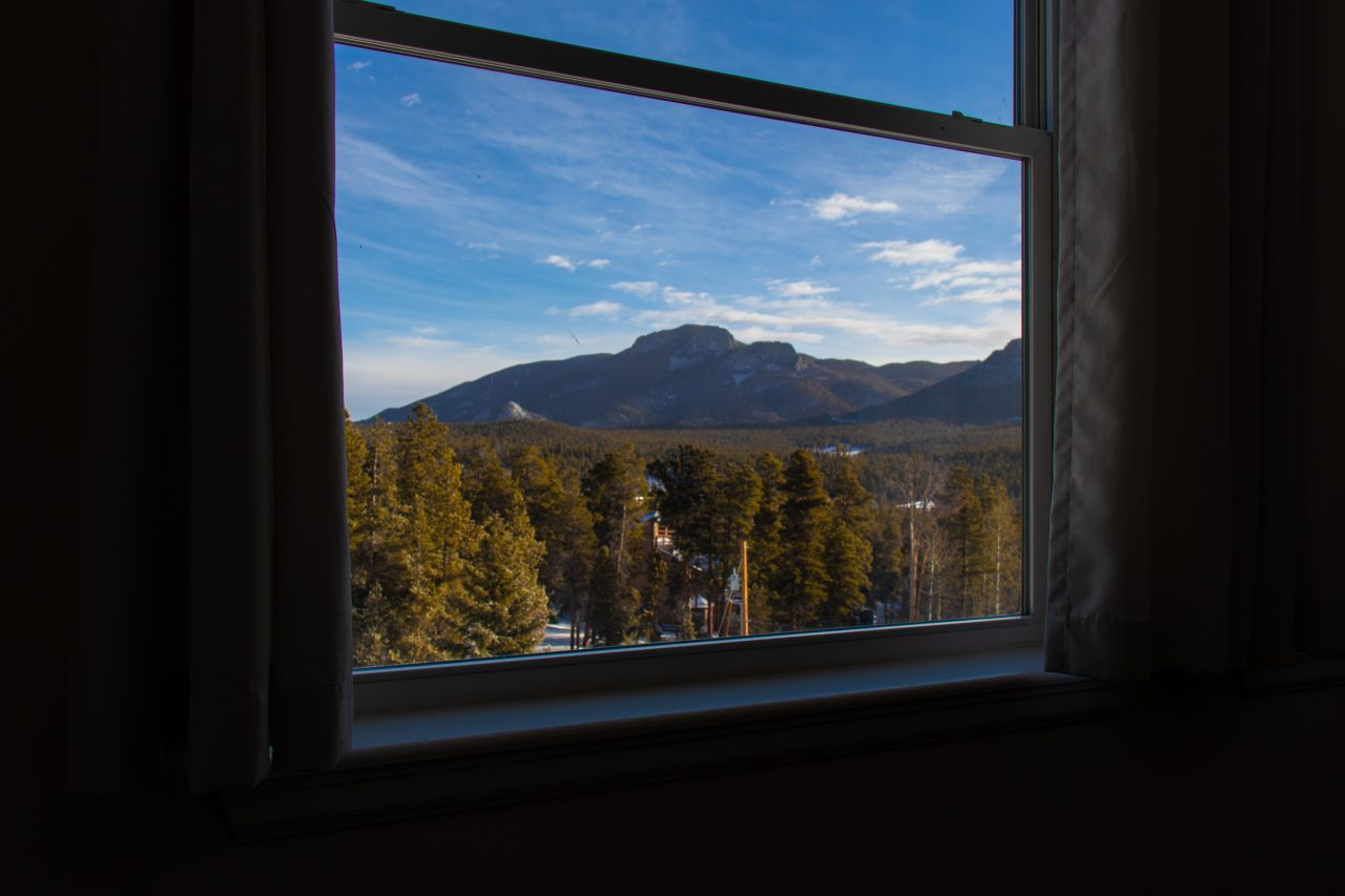 Mountains And Forest View From Window