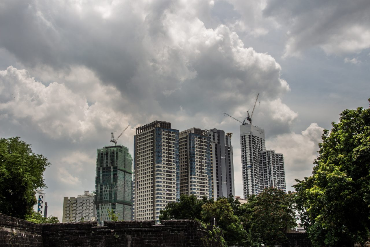 Tall Buildings Under Construction In Manila