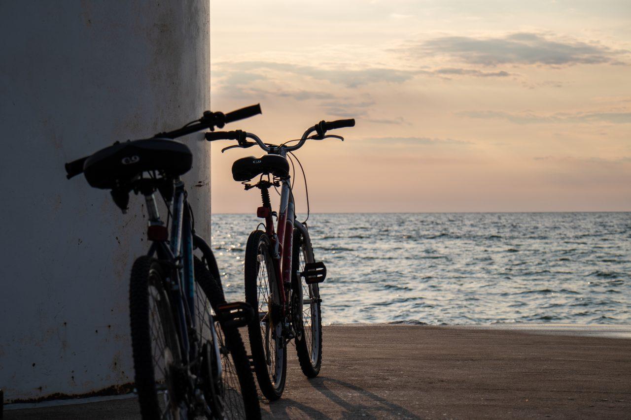 Two Bikes Near Water