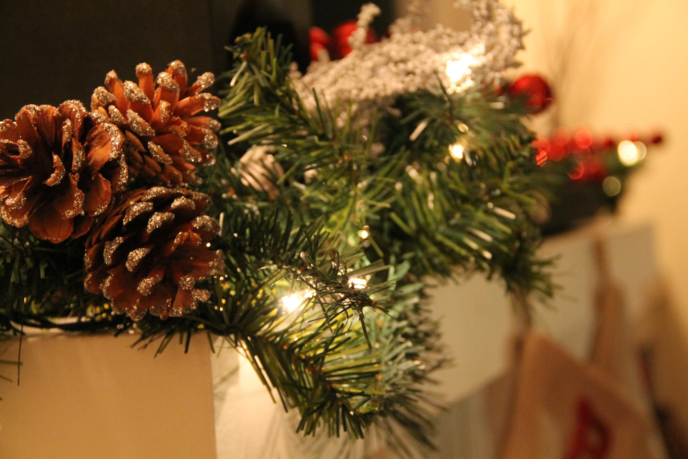 Free Stock of Christmas Garland with Pine Cones