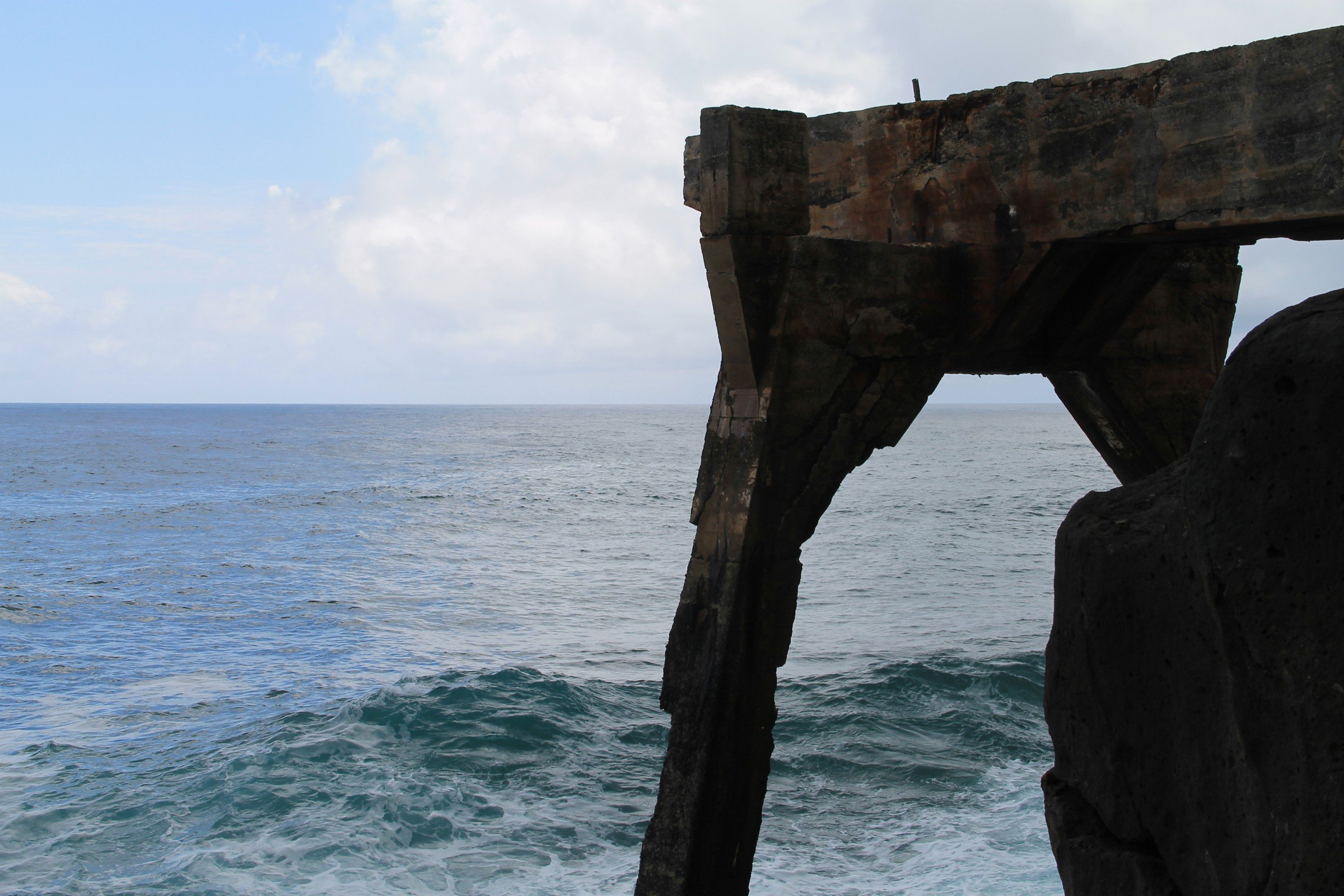 Concrete Structure Over Ocean Waves