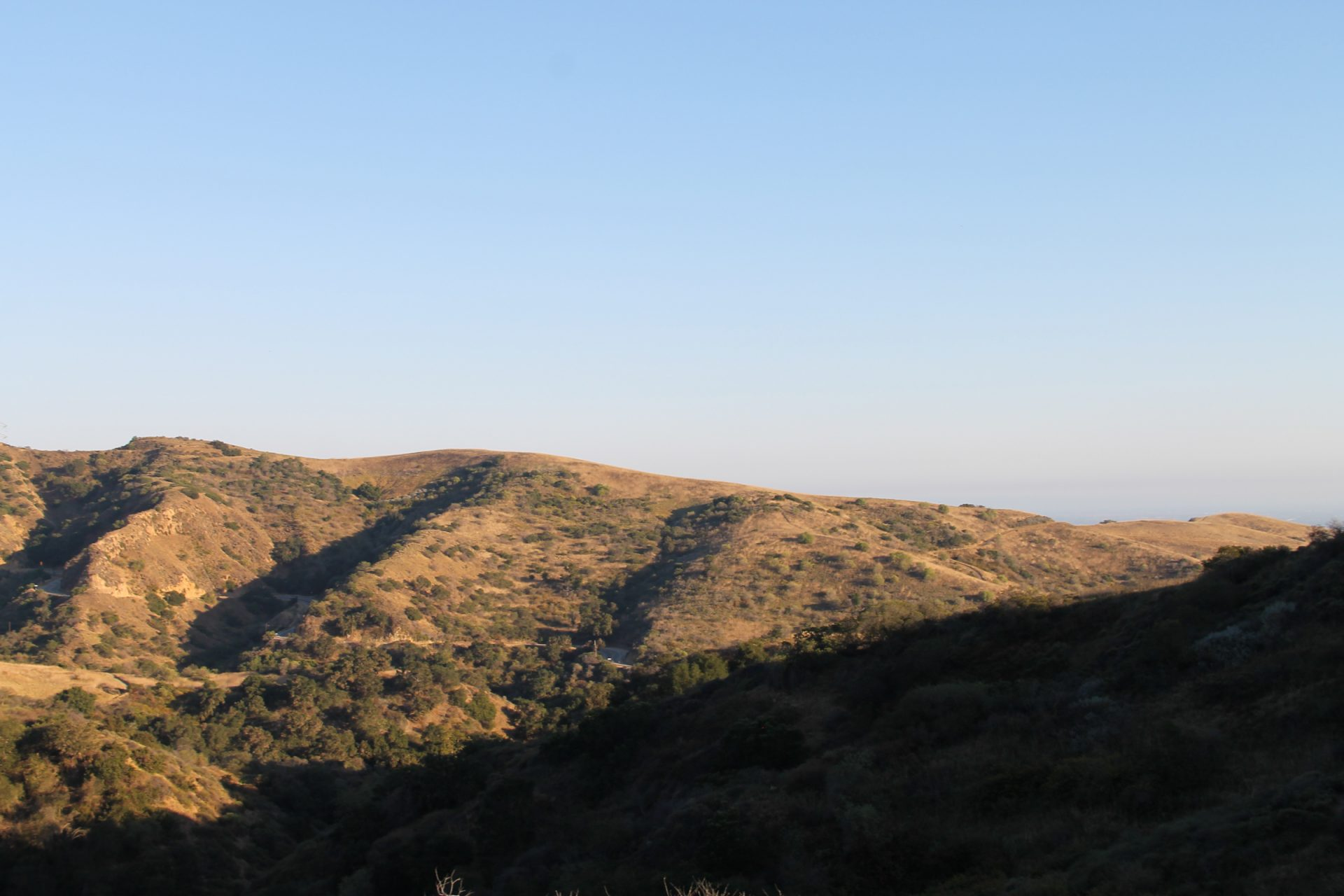 Dry Hills in Sunlight & Shadow