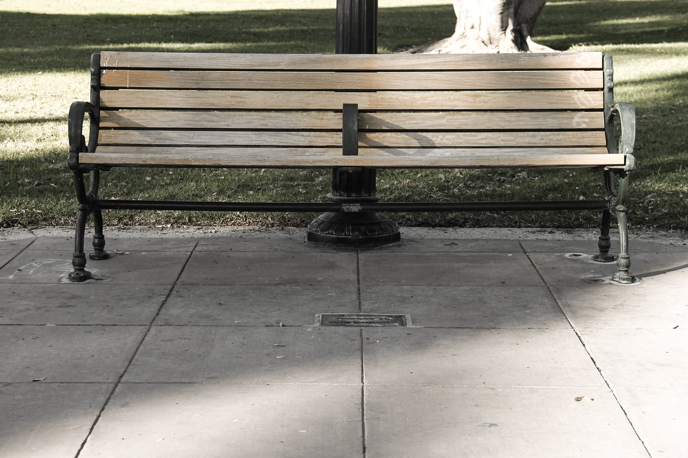 Wood Park Bench ~ Free stock photo of empty wooden park bench