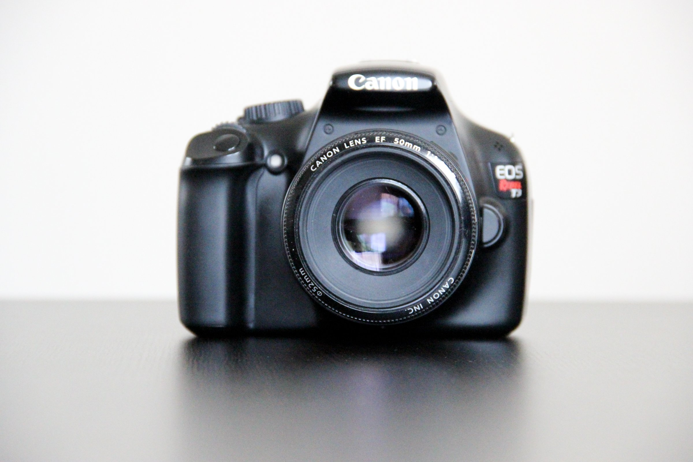Front of Canon DLSR Camera