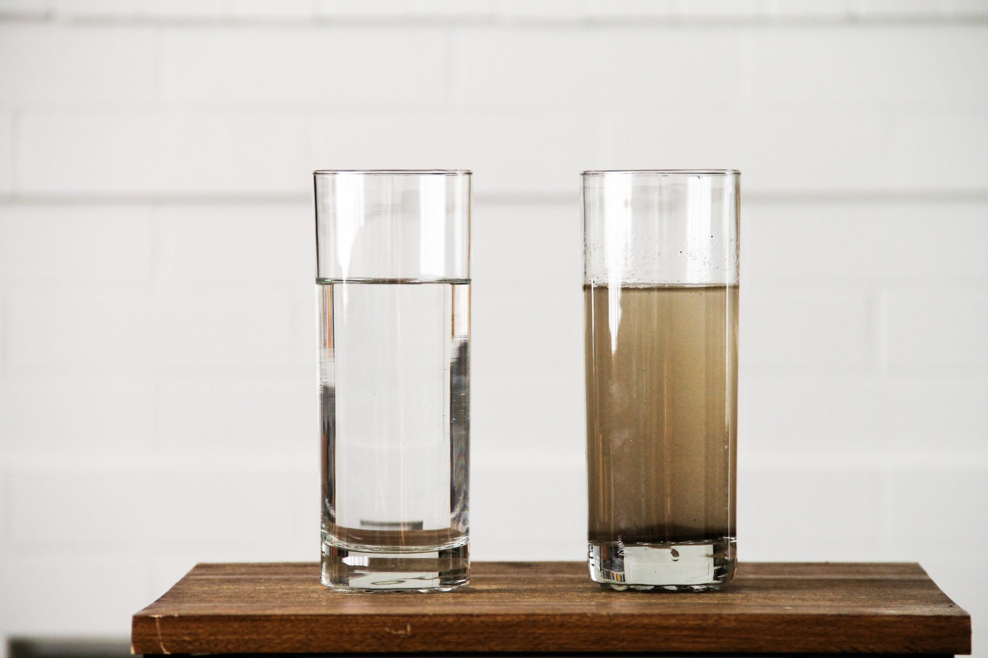 Glasses of Clean & Dirty Water