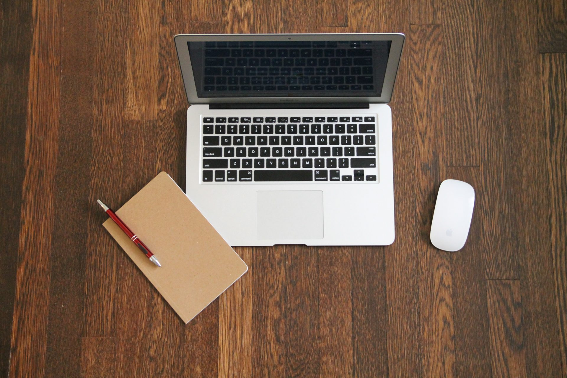 Macbook Laptop with Journal & Mouse