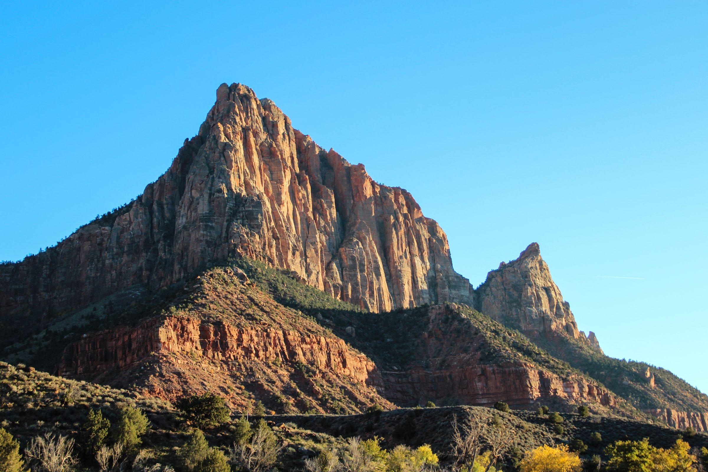 Free Stock Photo of Mountain Peak Cliffs
