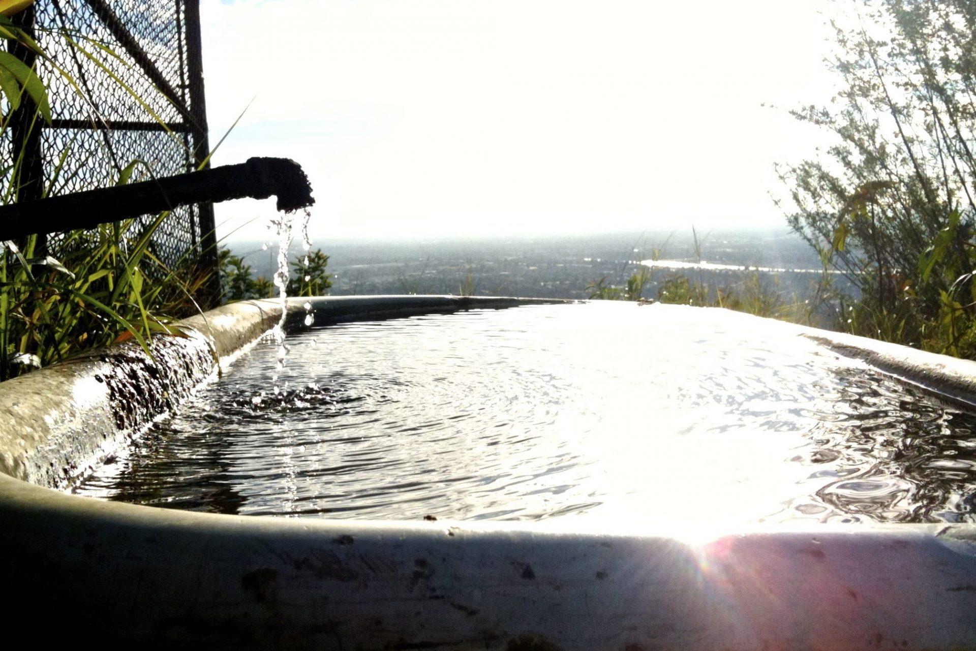 Water Overflowing Bathtub Outdoors