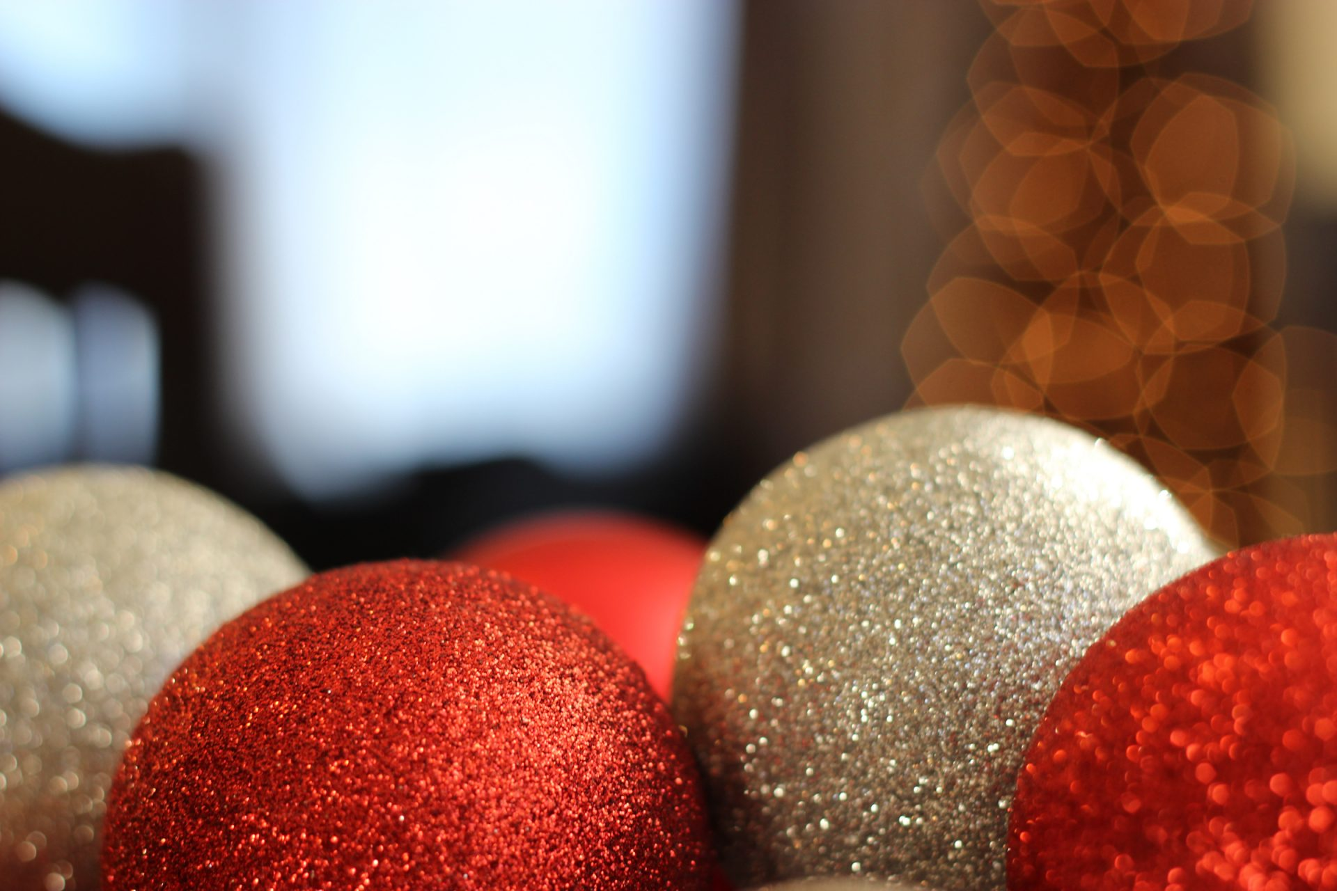 Red & Silver Christmas Ball Ornaments