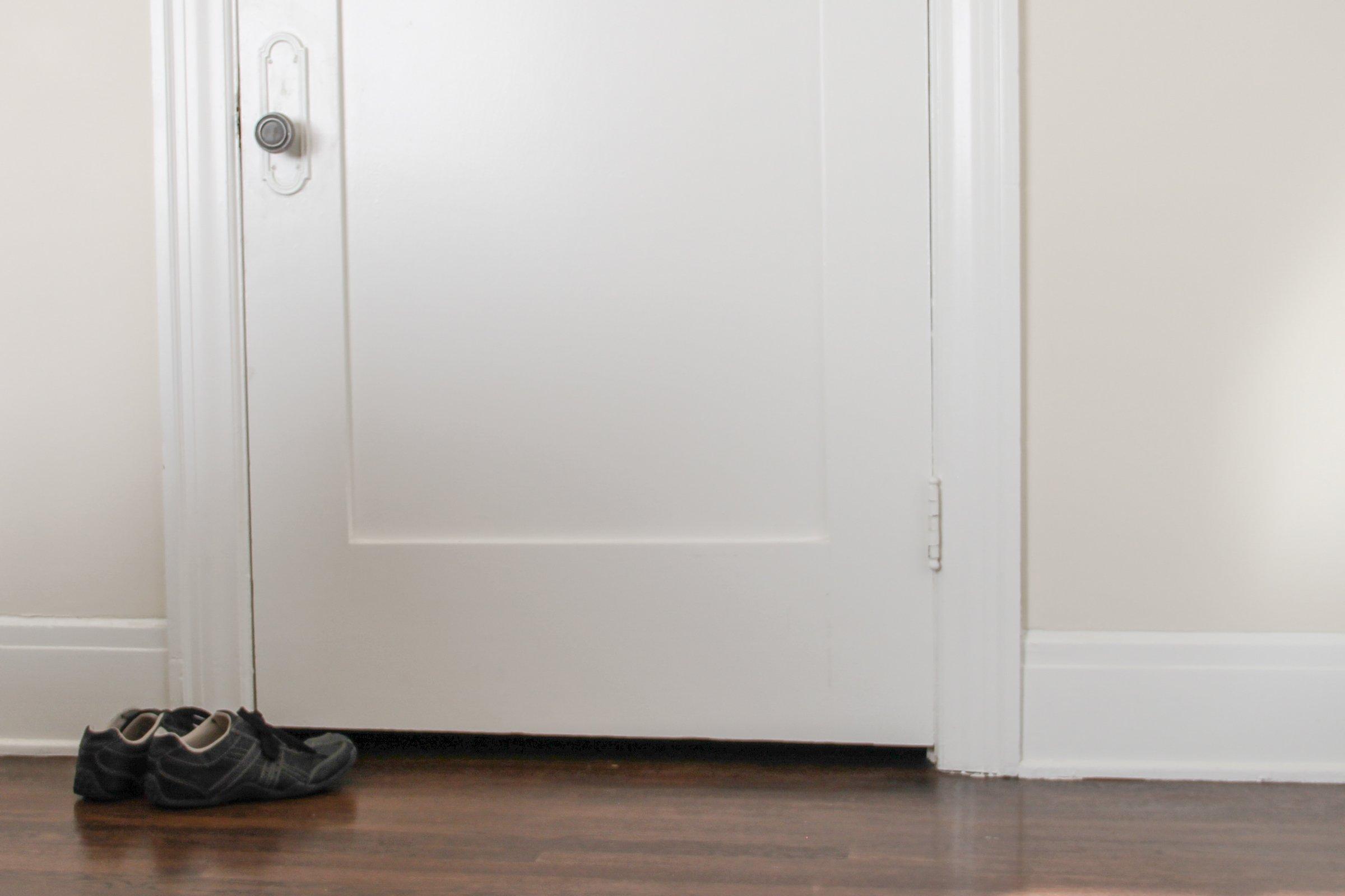 Shoes on Floor by Door
