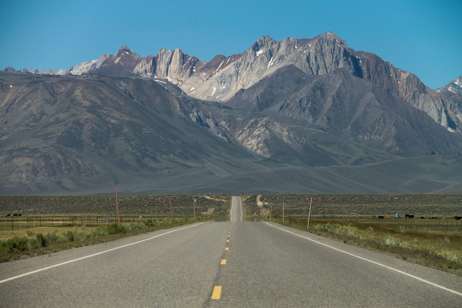 Straight Road Through the Plains to the Mountains