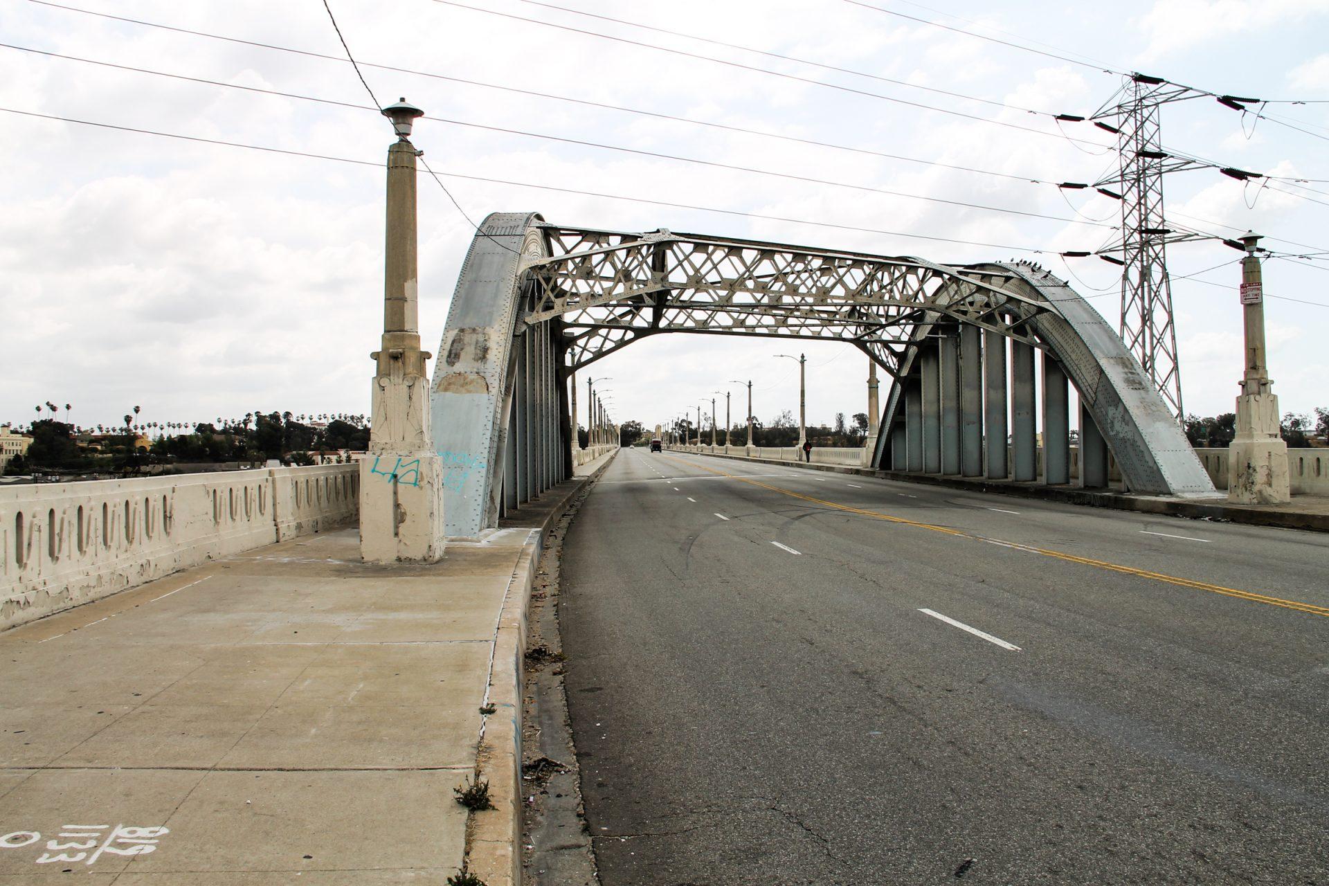 Street Bridge with Metal Frame