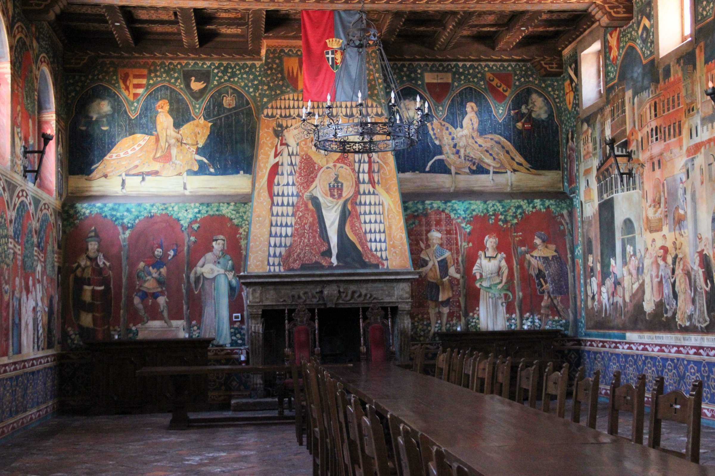 Table in Medieval Banquet Hall