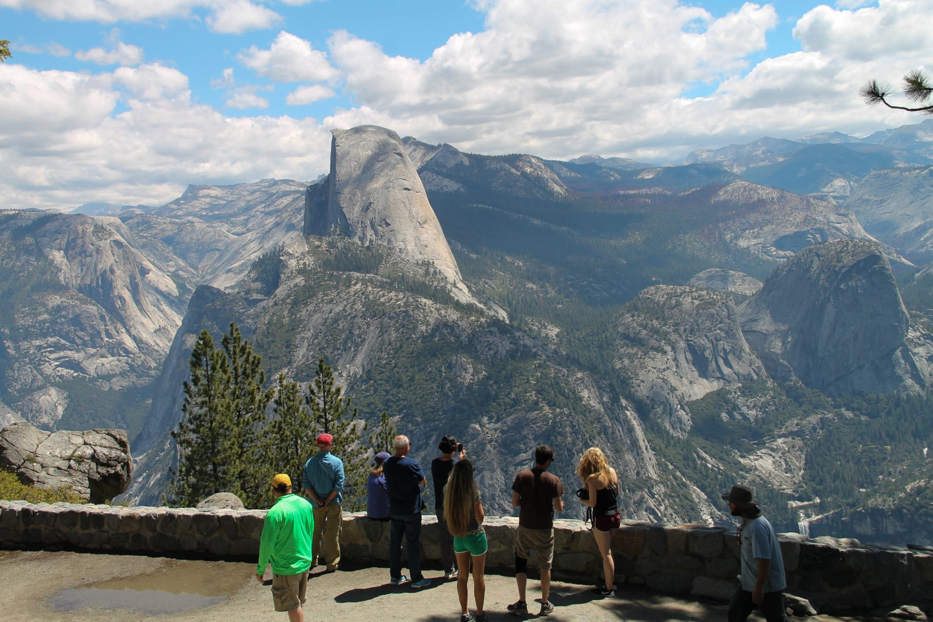 Tourists Looking at Half Dome